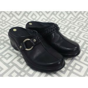 Ariat Black Leather Mules Clogs Size 7B Western